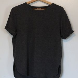 Marled Dark Gray Casual Tee